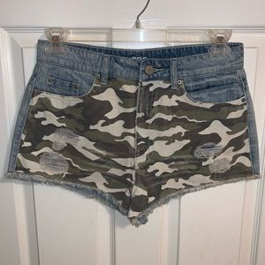 BDG Urban Outfitters Camo Denim Shorts